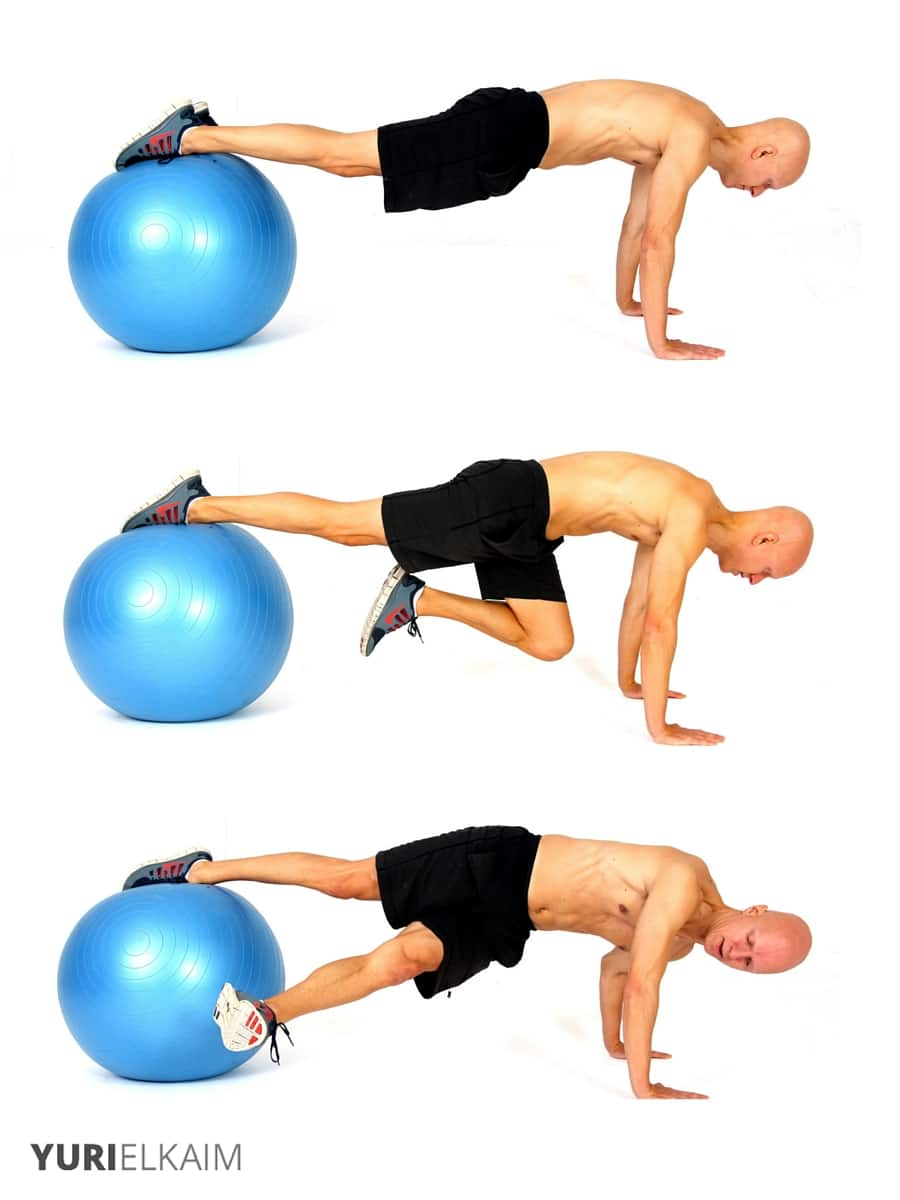 Daily Fitness Schedule--core exercises on stability ball