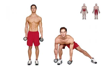 Daily Fitness Schedule--shifting side lunge