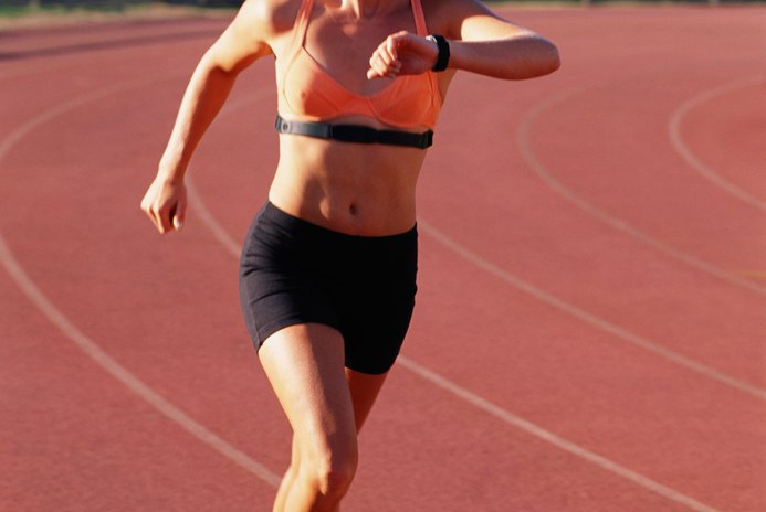 Are You Working Out Hard Enough, checking heart rate while running